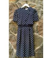 Miss Onward Sinine täpiline kleit