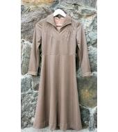 Klaara Vintage Pruun täpiline kleit