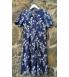 Klaara Vintage Sinine valgete lilledega kleit